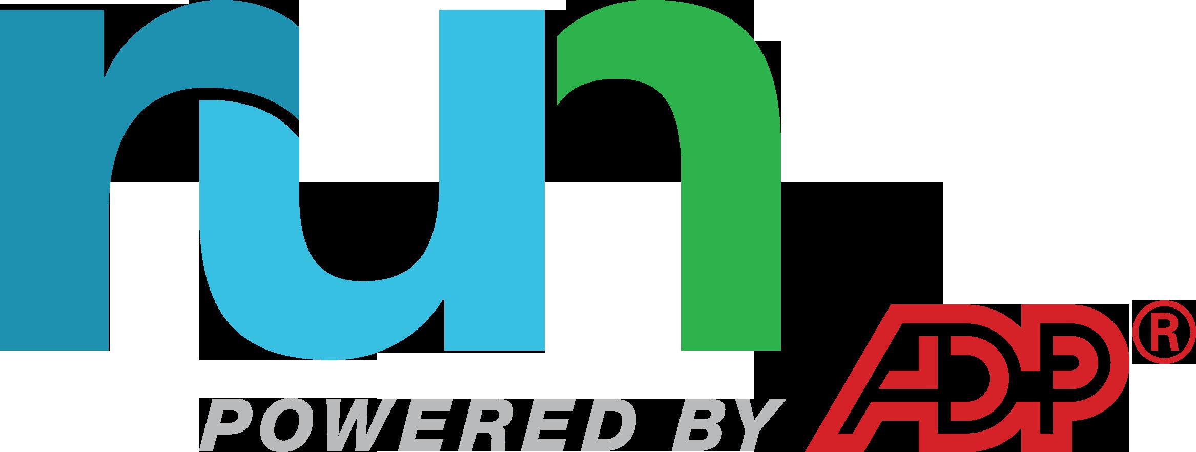 RUN Powered by ADP logo